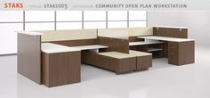 STAKS WORKSTATION - FIRST OFFICE - http://www.firstoffice.com/products/crossover/staks/