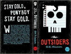 The Outsiders by S. COver by Mikey Burton. I Love Books, Good Books, My Books, Die Outsider, 007 Casino Royale, Reading Projects, Ladybird Books, Beautiful Book Covers, Books For Teens