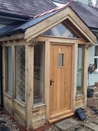 Green oak glazed porch google search house pinterest for Front porch kits for sale