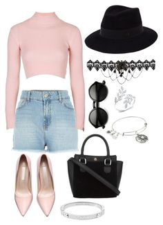 """""""Summer Is On The Way"""" by mia-a-oviatt on Polyvore featuring River Island, Topshop, Maison Michel, Michael Kors, Alex and Ani, women's clothing, women, female, woman and misses"""