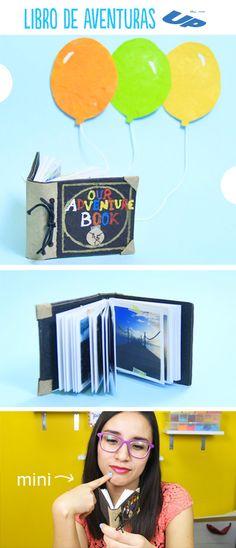 El libro más pequeño del mundo, que es un scrapbook inspirado en la película de UP. Con el podrás juntar muchas memorias y tenerlas en este oindo detalle. No olvides decorar muy bien la carátula