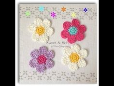 Flor pequeñita como marcador de libro tejida a crochet / Crochet flower bookmark - YouTube