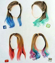 """Beautiful social media hairstyles"" ❤"