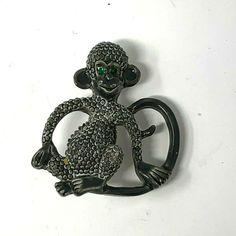 Enameled brooch Handmade copper enamel lapel pin One of a kind artisan jewelry Gray and black art brooch pin