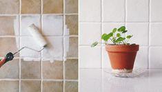Går det att måla på kakel? | ELLE Planter Pots, Diy, Bra Tips, Home Decor, House, Decoration Home, Bricolage, Room Decor, Home