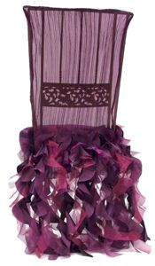 Purple chair cover.