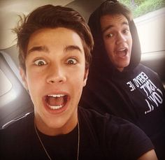 Austin Mahone and Alex Constancio 2014