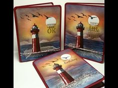 High Tide Card - Create an Easy Sunset Background! - YouTube