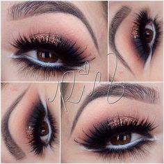 Glitter eyeshadow @Rosa Hans Hans Hans Hans Iris Zavala