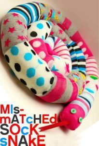 Cool Crafts Made With Old Socks - Mismatched Socks - Sew a Sock Snake - Fun DIY Projects and Gifts You Can Make With A Sock - Easy DIY Ideas for Teens, Teenagers, Kids and Adults - Step by Step Tutorials and Instructions for Making Room Decor, Animals, Cat, Rabbit, Owl, Puppets, Snowman, Gloves http://diyprojectsforteens.com/diy-crafts-ideas-socks