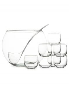 10-Piece Punch-Bowl Set. Crate and Barrel