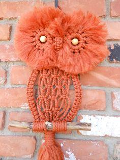 Rust Macrame Owl. $60.00, via Etsy.