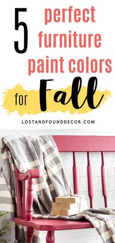 """What colors do you think of when I say """"Fall""""? I bet you're imagining orange, red, yellow, maybe even some brown or olive green, am I right? There are certain colors that come to mind for each season of the year. So when the temperatures drop and the leaves start changing colors, I start pulling different colors off my shelves for my painted pieces. #furniturepaint #chalkpaint #milkpaint #fusionmineralpaint"""