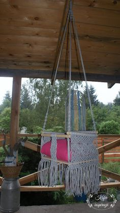 Huśtawka   Kufer inspiracji Porch Swing, Outdoor Furniture, Outdoor Decor, Hanging Chair, Home Decor, Decoration Home, Hanging Chair Stand, Room Decor, Porch Swings