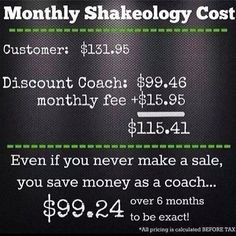 Let me help you get your Shakeology at the discount coach Price.   Facebook.com/accountabilityinwellness