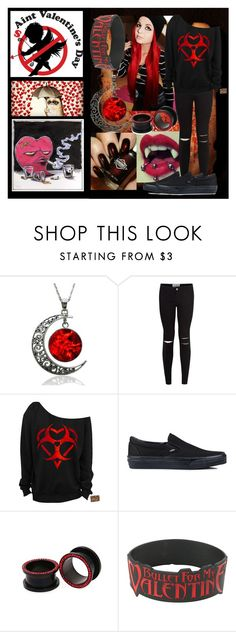 """Happy Anti-Valentines Day"" by fallenwithbrokenwings ❤ liked on Polyvore featuring Vans, women's clothing, women, female, woman, misses and juniors"