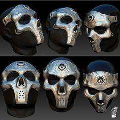 Mask concept design, Huit Oner on ArtStation at https://www.artstation.com/artwork/mask-concept-design
