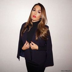 Nikki bella all black everything Famous Twins, Nikki And Brie Bella, Nicole Garcia, Wwe Women's Division, Wwe Wallpaper, Wwe Girls, Wwe Womens, Just Girly Things, Hair Color Dark
