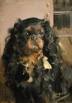 Anders Zorn Dog of Madame Rikoff