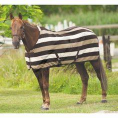 """Chemise polaire EQUI-THÈME """"Stripe"""" - chemise idéale pour sécher le cheval après le travail ou en complément d'une couverture de paddock par grand froid"""
