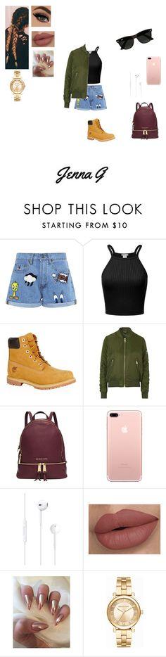 """Fall Fashion start +×÷"" by iamjennagarcia on Polyvore featuring Paul & Joe Sister, Timberland, Topshop, Michael Kors and Ray-Ban"