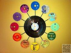 21. #horloge - 35 façons de #recycler de vieux #CD... → DIY