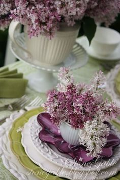 StoneGable: LILACS ON THE PORCH~ A MOTHER'S DAY TABLESCAPE
