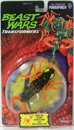 Hasbro Transformers Beast Wars 1996 POWERPINCH earwig bug new moc