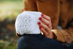 Cup Mug Hand Warmers Cozy Wool Crochet Autumn Fall Winter Cold Days Unisex Woman Man Teens White