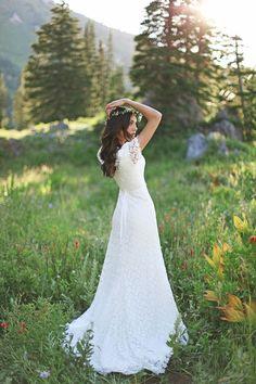 Modest Wedding Dresses by Alta Moda Bridal cut it to tea length