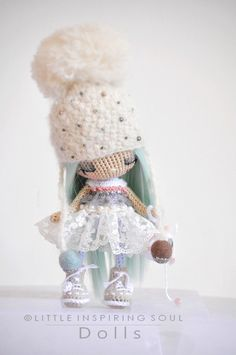 Cute mini doll by @ Little Inspiring Soul - No pattern available