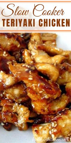 Serve this Slow Cooker Teriyaki Chicken over rice, you don't want any of that delicious, sticky sauce going to waste. And because we are all trying to be healthier this time of year make sure to serve lots of fresh. Slow Cooker Recipes, Cooking Recipes, Slow Cooker Dinners, Vegan Recipes, Slow Cooker Chicken, Chicken Teriyaki Recipe Crockpot, Chicken Breast Recipes Slow Cooker, Crockpot Meals, Crockpot Recipes Asian