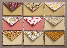 Envelopes de tecido - novas estampas by Zoopress studio, via Flickr