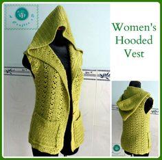 Hooded Crochet Vest | AllFreeCrochet.com