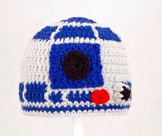 {R2D2 crochet beanie hat}