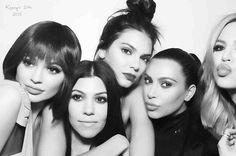 The Kardashians pose up in stunning photobooth snaps at Kendall Jenner's 20th birthday party - 3am & Mirror Online