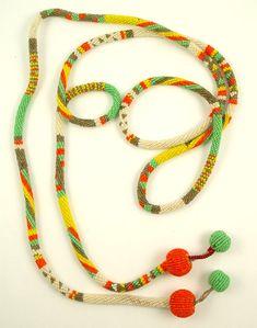 Wiener Werkstatte (attributed) glass microbead necklace Austria Circa 1925 (?)