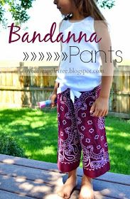 Bandanna Pants by Over The Apple Tree