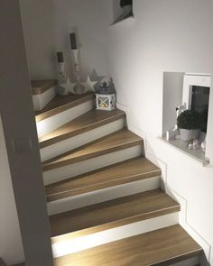 Staircase makeover renovation in 60 years corridor. – Miss Emmama Staircase makeover renovation in 60 years corridor. – Miss Emmama Redo Stairs, Staircase Makeover, House Stairs, Modern Staircase, Staircase Design, Decorating Staircase, Interior Stairs, Interior Design Living Room, Sweet Home