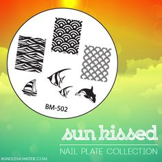 Create a beautiful mermaid #manicure with our soon-to-be released SUNKISSED #nailplatecollection! What other images do you think will be featured on this set?  #bundlemonster  #shopbm