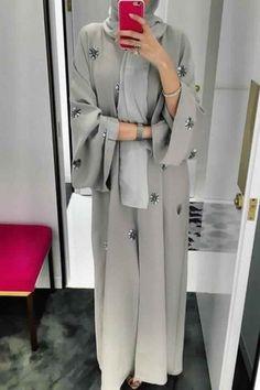 hijab abaya e're starting today with ABAYAS! Hijab Style Dress, Modest Fashion Hijab, Modern Hijab Fashion, Hijab Fashion Inspiration, Abaya Fashion, Muslim Fashion, Mode Inspiration, Fashion Clothes, Fashion Outfits