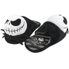 I found 'Nightmare Before Christmas - Mens Jack Plush Slippers (Size L; Color Black)' on Wish, check it out!