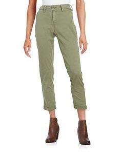 Nydj Cropped Chino Pants Women's Sergeant Olive 2