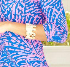 Lilly Pulitzer Tusk Tusk Elephant Cuff Bracelet