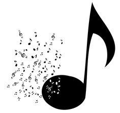 Muursticker Muzieknoot