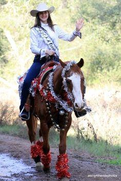 "christmas horse costumes | Christmas ""Appaloosa Queen"" idea"