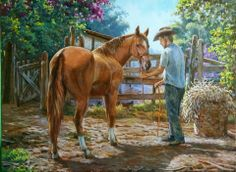 Country Art, Western Art, Animal Paintings, Westerns, Illustration Art, Wildlife, Scene, Horses, Fine Art