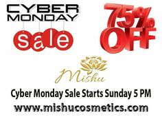 Cyber monday sale 75% off!!! starts Sunday 5 pm. don't miss out. www.mishucosmetics.com #sale #cybermonday #beforeandafter #instantfacelift #mishucosmetics #kimkardashian #follow #organic #talkoftheday #celebrity #hollywood #nobotox #beautyblogger #beauty #healthychoices #healthylife #organicbeauty
