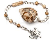 Picturing Sweetness - Picture Jasper and Sterling Silver Pendulum
