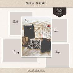 pictures + words vol. 3